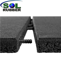 Outdoor Connect Pin Interlock Rubber Flooring Tile