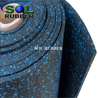 Fire Resistance Safety GYM Rubber Floor Roll