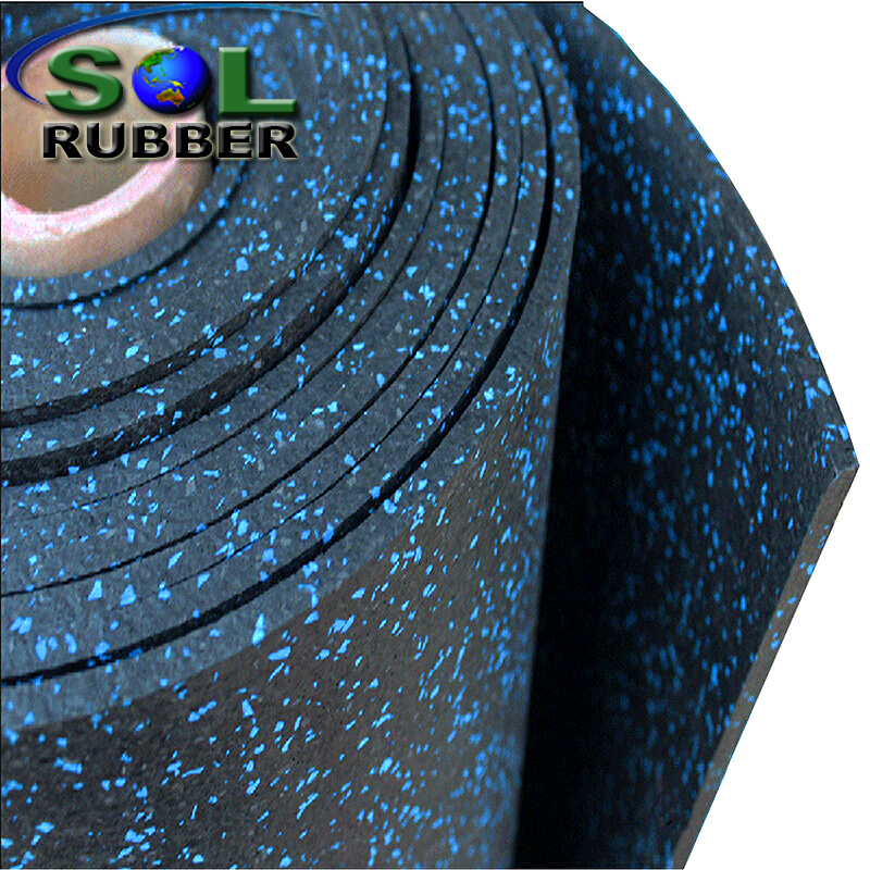 Crossfit EPDM Sparkles Rubber Roll Gym Floor Mat