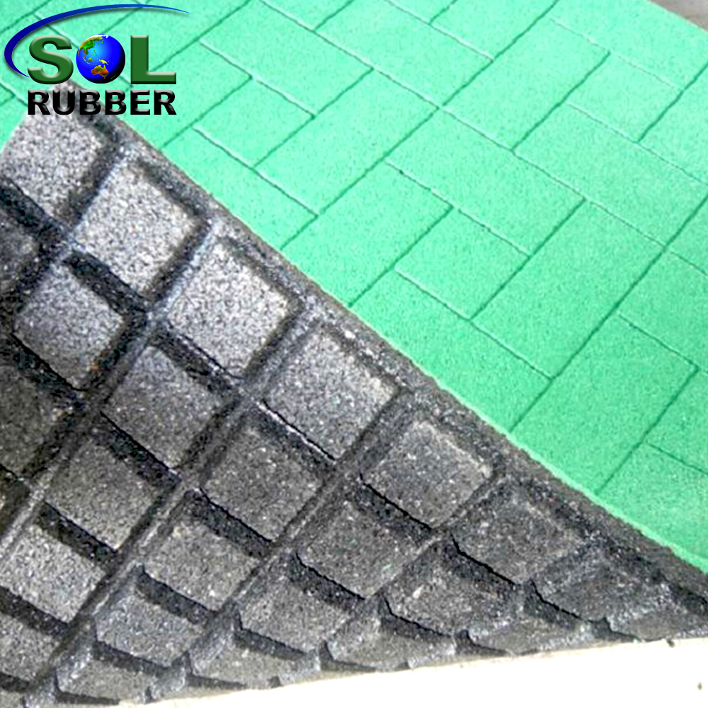 Recycled Rubber Brick Tiles Mats Lowes