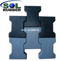 45mm Outdoor Sidewalks Rubber Paver