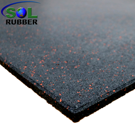 SOL RUBBER wholesale rubber gym flooring tile used EPDM particles mixed with fine SBR bodies