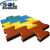 Brick Puzzle Rubber Paver for Walkway