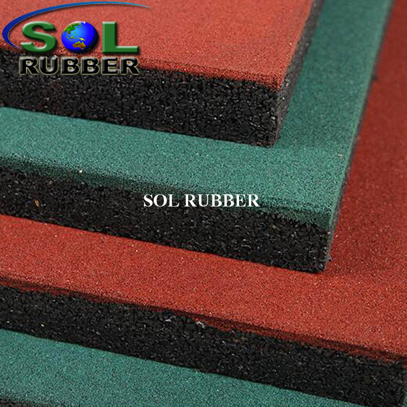 50mm Rubber Tile Use for Playground