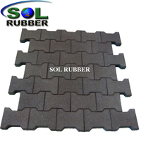 45mm Red Dog Bone Rubber Paver