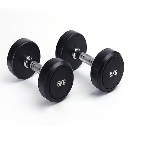 Gym Equipment Round Rubber Fixed Dumbbell