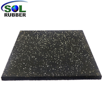15mm Black Gym Flooring Rubber Mat