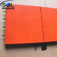 SOL RUBBER used children outdoor safety crossfit playground interlock rubber floor tiles mat EPDM surface