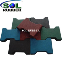 Various Color Interlock Rubber Paver