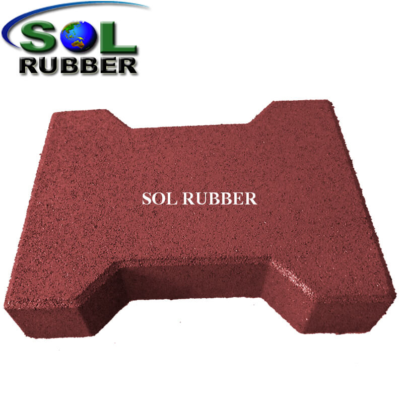 Anti-slip And Anti-shock Horse Rubber Paver