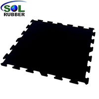 SOL RUBBER CrossFit Gym Rubber roll Interlocking Flooring Tiles mat fine SBR granules