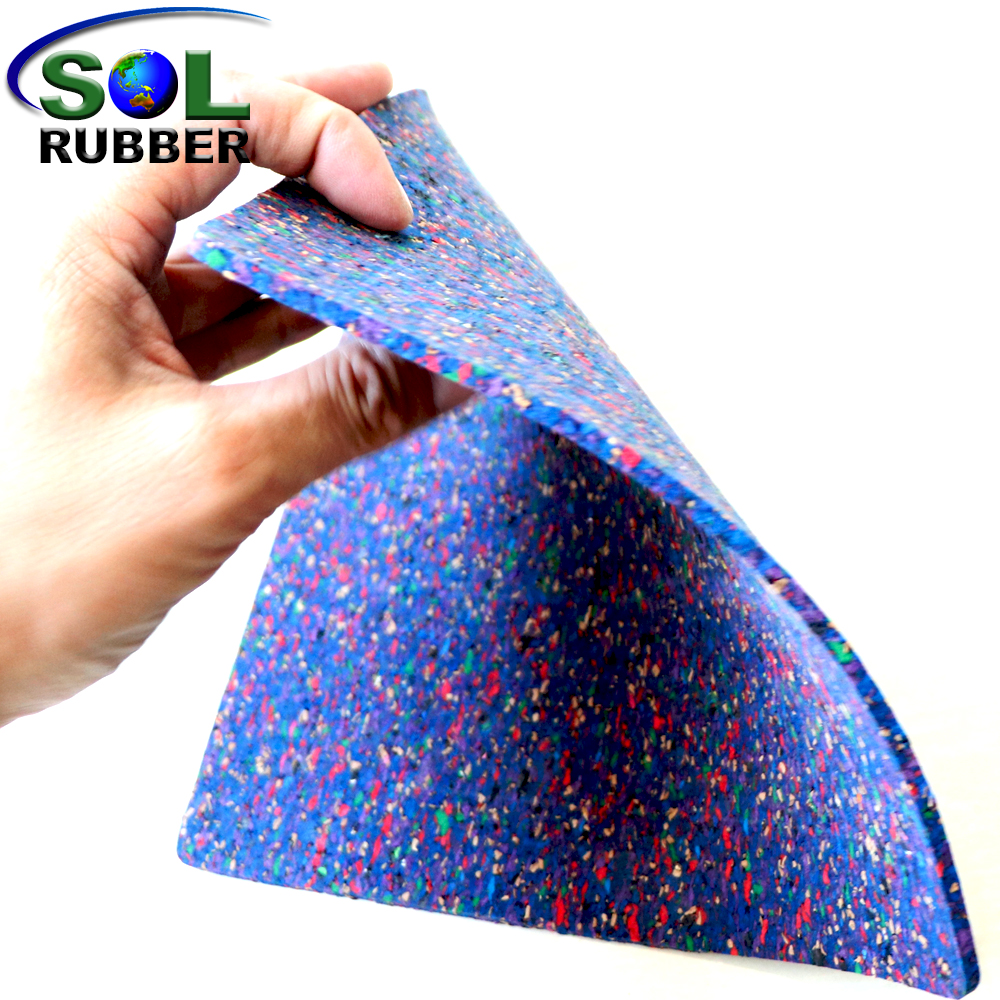 SOL RUBBER Acoustic Underlay rubber Mat with Optimal Sound Absorption mixed with foam and sawdust bodie