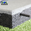SOL RUBBER used children outdoor safety crossfit playground interlock rubber floor tiles mat