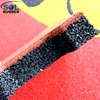 SOL RUBBER outdoor driveway recycled rubber brick tiles patio pavers mats lowes fine SBR granules surface, bigger SBR granules bottom