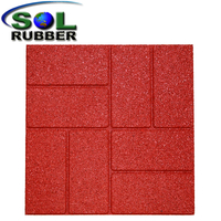 Residential outdoor rubber paver 16,18,24