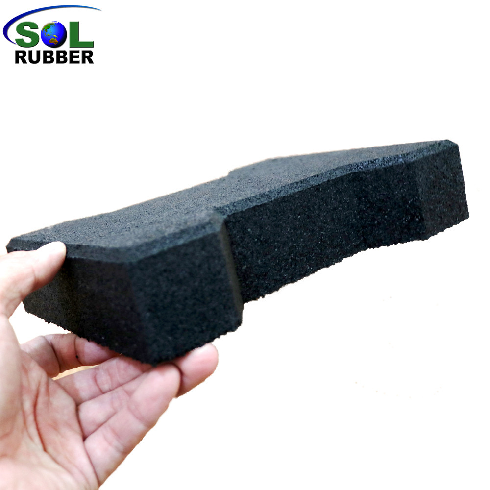 SOL RUBBER outdoor driveway recycled rubber brick tiles patio