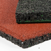 Weathering Resistance Playground Interlock Rubber Tiles