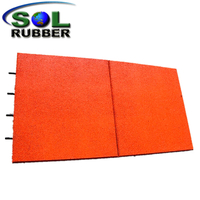 Outdoor Rubber Tile Ce Certificated Playground Rubber Floor Mat