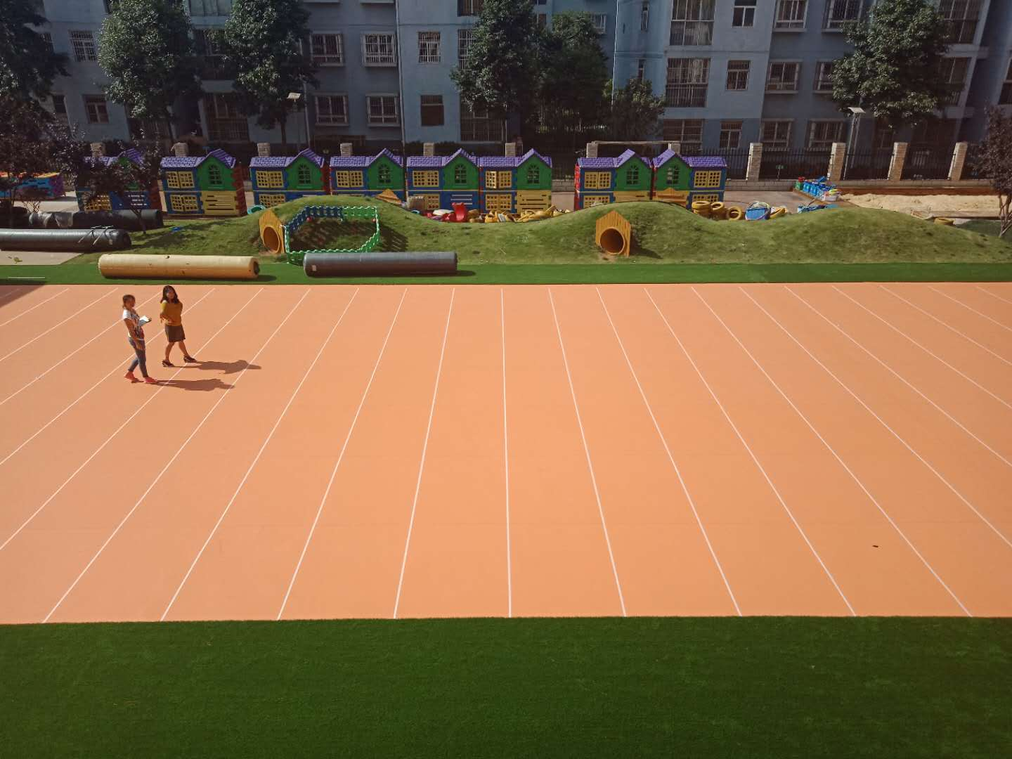 Customized Outdoor Park Basketball Court PVC Flooring