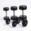 Round Rubber Fixed Dumbbell Gym Equipment