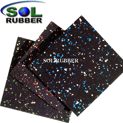 Mixed Color Surface Gym Flooring Rubber Mat