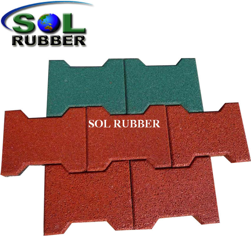 45mm High Quality New Pattern Horse Rubber Tile Paver in Chile