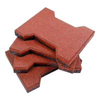 23mm Whole Color Red Rubber Paver