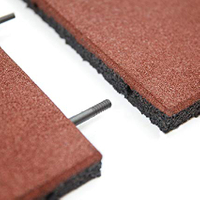 Anti-slip Flat Bottom SBR Granules Rubber Mat